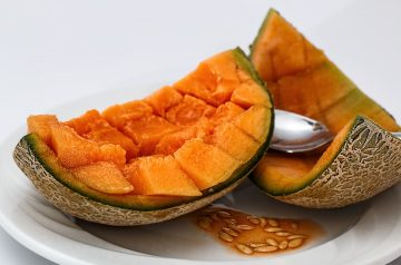 Melon With Fruit Salsa