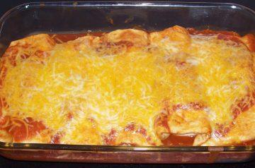 Cheese and Onion Enchiladas